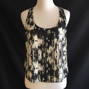 GLAM black/cream high low top size S
